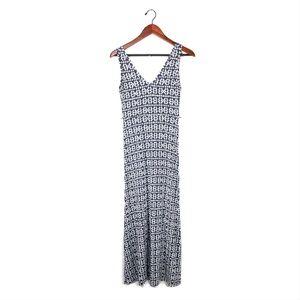 Ann Taylor dress petite xs maxi sleeveless v neck